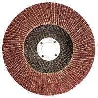 Круг лепестковый торцевой КЛТ-1, зернистость Р80(16Н), 150 х 22,2 мм, (БАЗ)//Россия