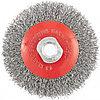 """Щетка для УШМ, 100 мм, М14, """"тарелка"""", витая проволока// MATRIX"""