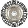 Щетка для УШМ 150 мм, М14, плоская, крученая  проволока 0,5 мм// MATRIX