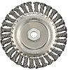Щетка для УШМ 150 мм, М14, плоская, крученая  проволока 0,8 мм// MTX