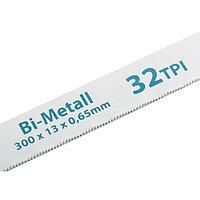 Полотна для ножовки по металлу, 300 мм, 32TPI, BiM, 2 шт.// GROSS