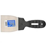 Шпательная лопатка из нержавеющей стали, 80 мм, пластмассовая ручка//СИБРТЕХ