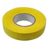 Изолента ПВХ, 15 мм х 10 м, 130 мкм, желтая // СИБРТЕХ