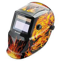 Сварочная маска (хамелеон) с автозатемнением, пламя, MATRIX, 89137