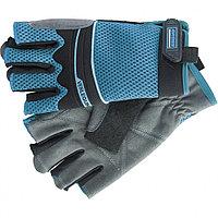 Перчатки с открытыми пальцами, комбинированные облегченные, для спорта и работы, AKTIV, размер М, GROSS, 90315