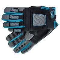 Перчатки универсальные DELUXE, комбинированные, для спорта и работы, размер L, GROSS, 90333