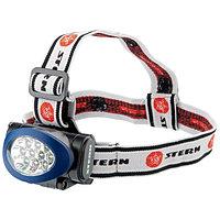 Наголовный фонарь 10Led, светодиодный. 3 режима, 3хААА, Stern, 90562