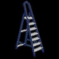 Стремянка, 7 ступеней, из стали, оцинкованные ступени, СИБРТЕХ, 97847