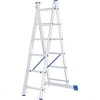 Лестница, 2 секции по 6 ступеней, алюминиевая, двухсекционная, СИБРТЕХ, 97906