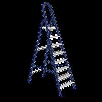 Стремянка, 8 ступеней, из стали, оцинкованные ступени, СИБРТЕХ, 97848