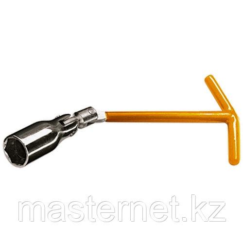 Ключ свечной, 21 мм, с шарниром// SPARTA