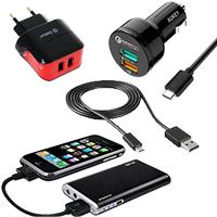 Зарядные устройства и кабельные аксессуары для мобильных устройств