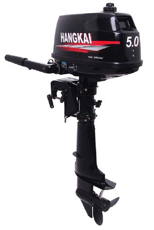 Лодочный мотор 2х тактный  HANGKAI 5 лс, фото 2