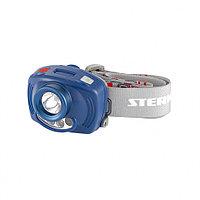 Фонарь налобный Extreme, ABS, 3 реж, ИК сенсор, CREE XP-E LED 3 Вт 120 лм+2 red, 8 ч, 3хААА Stern 90566