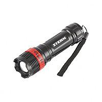 Фонарь бытовой, 1 Вт LED, пластиковый корпус, ремешок, зум, 3 режима 100%-50%-строб, 3хААА, Stern, 90570, фото 1