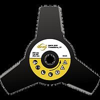 Диск для триммера, 255 х 25,4 толщина 1,6 мм, 3 лезвия, DENZEL, 96325, фото 1