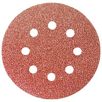 """Круг абразивный на ворсовой подложке под """"липучку"""", перфорированный, P 100, 125 мм, 5 шт.// СИБРТЕХ"""