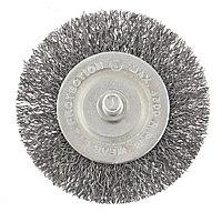 Щетка для дрели, 60 мм, плоская со шпилькой, витая проволока // СИБРТЕХ
