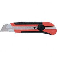 Нож, 25 мм, выдвиж. лезвие, метал. направляющая, двухкомп. корпус, винт.фиксатор, с магнитом//MATRIX