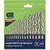 Набор сверл по металлу, 1-10 мм (через 0,5 мм), HSS, 19 шт.,пластик.коробка цил. хвостовик// СИБРТЕХ