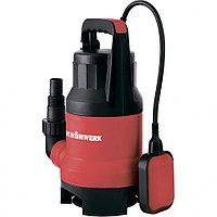 Дренажный насос для грязной воды KP800, 800 Ватт, подъем 8 м, 13000 л/ч, Kronwerk, 97232