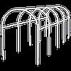Каркас парника пластиковый 5х1,1х1,2м, дуга d20мм, белый // PALISAD