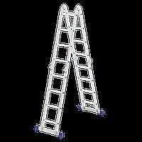 Лестница шарнирная из алюминия, 4 секции по 4 ступени, Сибртех, 97882