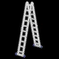 Лестница шарнирная алюминиевая, 4 секции по 5 ступеней,  Сибртех 97883