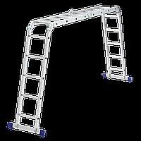 Лестница шарнирная из алюминия, 2х4+2х5, Сибртех, 97884