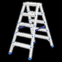 Стремянка двусторонняя 5 ступени, из алюминия, Сибртех, 97925