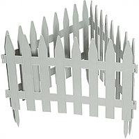 "Забор декоративный форма ""Рейка"", 28 х 300 см, цвет белый, PALISAD, 65004"