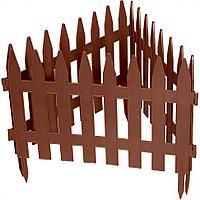 """Забор декоративный форма """"Рейка"""", 28 х 300 см, цвет терракот, ALISAD, 65007"""