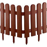 "Забор декоративный форма ""Классика"", 29 х 224 см, цвет терракот, PALISAD, 65009"