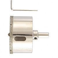 Сверло алмазное по керамограниту, 65 х 67 мм, 3-гранный хвостовик// MATRIX