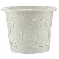 Горшок Тюльпан с поддоном, мрамор, 6 л // PALISAD