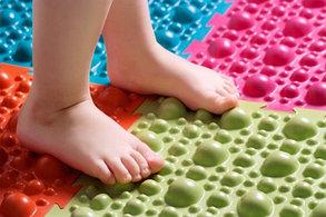 Детский ортопедический модульный коврик-массажер для ног Fosta, фото 3