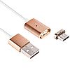 Кабель USB-MicroUSB TypeB (am-bm) Metal Magnetic, кабель для зарядки и передачи данных с магнитным разъемом .