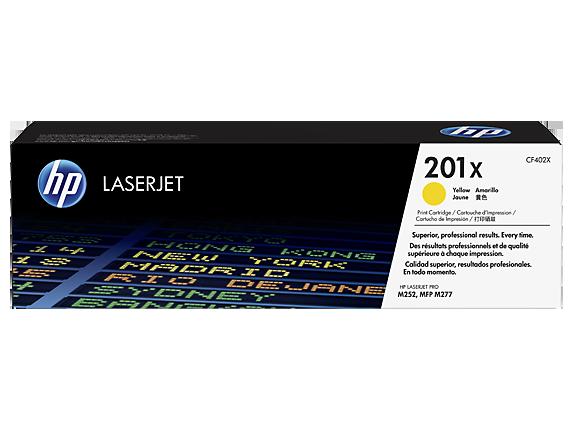 Лазерный картридж HP 201X (Оригинальный, Желтый - Yellow) CF402X