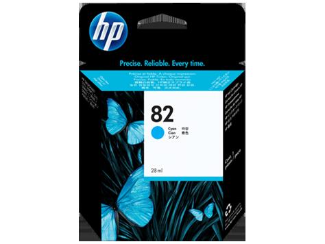 Струйный картридж HP 82 (Оригинальный, Голубой - Cyan) CH566A