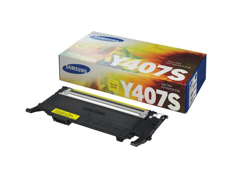 Лазерный картридж Samsung Y407S (Оригинальный, Желтый - Yellow) CLT-Y407S