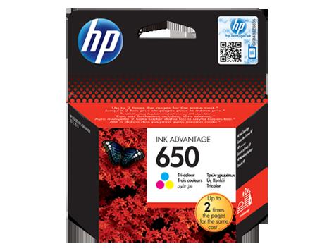 Струйный картридж HP 650 (Оригинальный, Цветной) CZ102AE