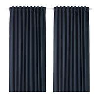 Шторы блокирующие свет МАЙГУЛЛ темно-синий 290x300 см ИКЕА IKEA