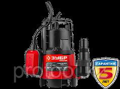 Насос М1 погружной, ЗУБР, дренажн. для грязн воды (d частиц до 35 мм), 400Вт, пропускная способност