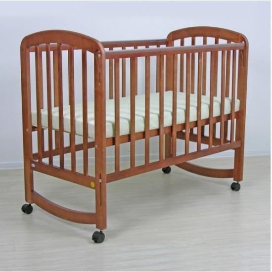 """Кровать детская Фея """"304"""", (орех), состав - дерево (береза), колёса"""