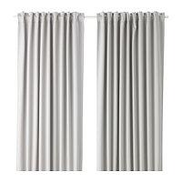 шторы блокирующие свет МАЙГУЛЛ светло-серый  290x300 см ИКЕА IKEA