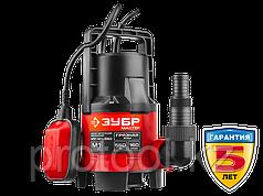 Насос М1 погружной, ЗУБР НПГ-М1-550, дренажн для грязн воды (d частиц до 35 мм), 550Вт,