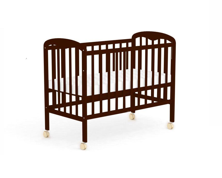 """Кровать детская Фея """"323"""", (палисандр), состав - дерево (береза), колёса, """"Кнопка""""-механизм опускания боковины"""