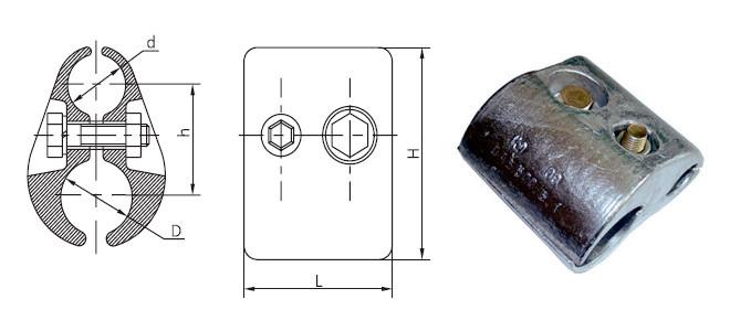 Зажим плашечный ПАБ-500-Б