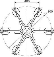 Распорка 6РГ-5-400, фото 2