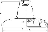 Изолятор ПС210В (190), фото 2
